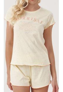 Pijama Feminino Curto Cor Com Amor 12334 11400-Ama