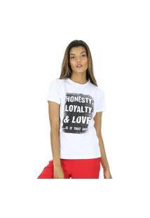 Camiseta Com Silk De Malha Aha