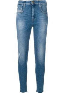 Diesel Calça Jeans  Slandy High 086Ab  - Azul 2dbc6056408