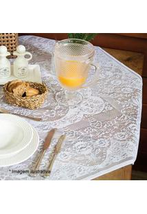Lepper Toalha De Mesa 4 Lugares Dinner Branca 100X100Cm