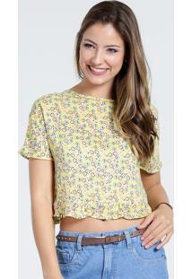 Blusa Feminina Estampa Floral Cropped Marisa
