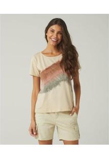 Camiseta Feminina Sidewalk Luana - Feminino-Bege