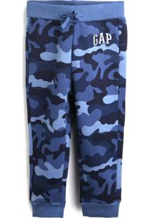 Calça De Moletom Gap Menino Militar Azul