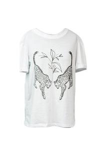 Camiseta Dupla Bordada Branca
