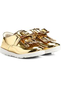 Sapato Klassipé Infantil - Feminino-Ouro