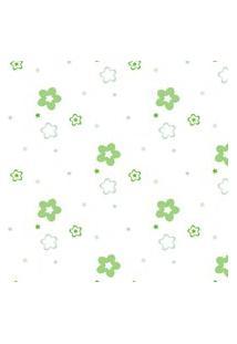 Papel De Parede Verde Floral Para Quarto 57X270Cm