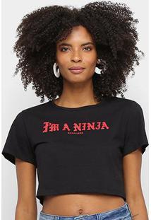Camiseta Cavalera Tee Cropped Slim Im A Ninja Feminina - Feminino