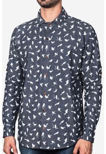 Camisa Jeans Birds 200029
