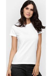 Camiseta Blank Basic - Feminino-Branco