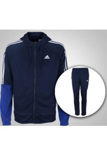 Agasalho Com Capuz Adidas Refocus - Masculino - Azul Esc/Azul