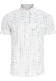 Camisa Masculina Rough Grid Riva - Off White