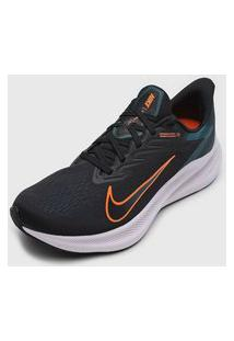 Tênis Nike Zoom Winflo 7 Preto/Laranja