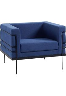 Poltrona Le Corbusier Lonita Azul Marinho