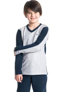 Pijama Infantil Masculino Longo Em Microsoft Davi