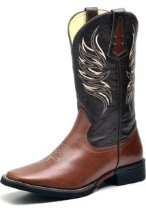 Bota Country Texana Top Franca Shoes Mustang Cafe Havana