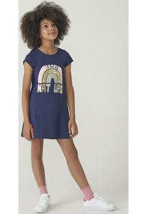 Vestido Infantil Menina Modelagem T-Shirt Hering Kids