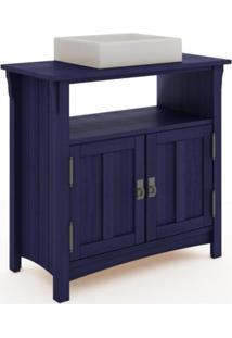 Gabinete Para Banheiro 2 Portas Mission Azul - Mão & Formão