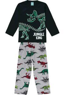 Pijama Infantil Masculino Preto