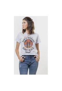 Camiseta Jay Jay Basica Sunny Beach Branca Dtg