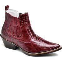 Bota Top Franca Shoes Country Masculino - Masculino-Vermelho 132e7914057