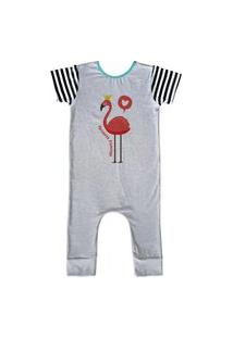 Pijama Longo Comfy Flamingo