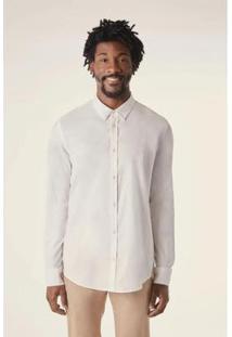 Camisa Pf Ml Oxford Pima Resista A Agua Reserva Masculino - Masculino-Branco