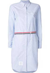Thom Browne Vestido Mangas Longas - Azul