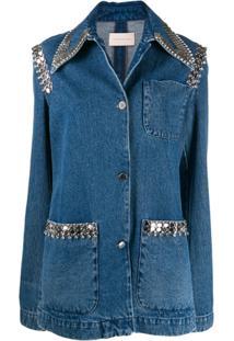 Christopher Kane Jaqueta Jeans Jaxson Com Corrente - Azul
