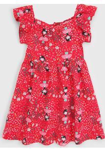 Vestido Nanai By Kyly Infantil Menina Vermelho