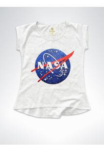 Camiseta T-Shirt Feminina Geek Cool Tees Nasa Vintage Mescla