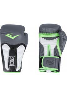Luvas De Boxe Everlast Treino Prime - 14 Oz - Adulto - Cinza Esc/Verde