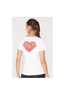 Camiseta Onbongo Feminina Estampada Branca