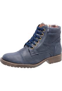 Bota Mega Boots Couro 1000 Azul Marinho
