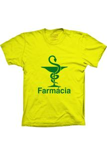 Camiseta Baby Look Lu Geek Farmácia Amarelo