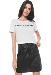 Camiseta Cropped Cavalera Dream Branca