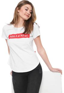 Camiseta Coca-Cola Jeans Aroma Lettering Branca