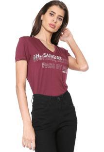 Camiseta Osmoze Fonte Foil Vinho