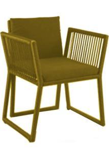 Cadeira De Corda Cottage Amarela - Incolor - Dafiti