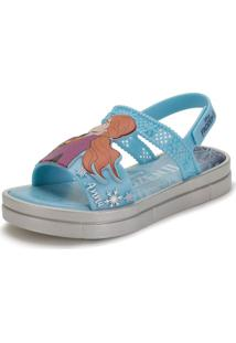 Sandália Infantil Frozen Magia Grendene Kids - 22255 Azul 28
