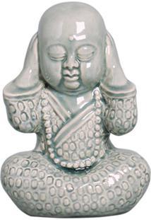 Estátua Decorativa Buda Não Ouço Verde
