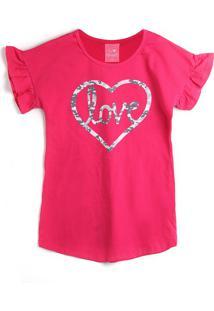 Vestido Kamylus Coração Pink