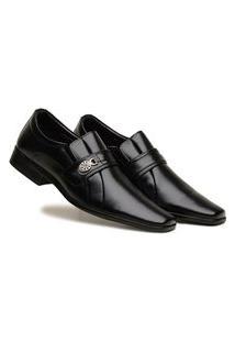 Sapato Social Grande Tamanho Especial Masculino Preto