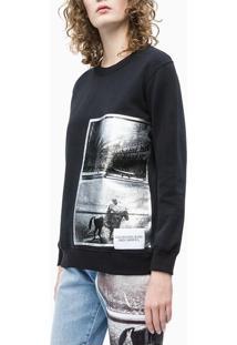 Casaco Ckj Fem Andy Warhol Rodeo - Preto - Pp