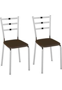 Conjunto Com 2 Cadeiras Acurio Cacau