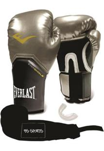 Kit Luva Everlast Pro Style Elite 14Oz+ Bandagem+Bucal - Unissex