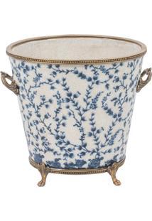 Vaso Decorativo De Porcelana Cambuí