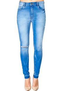 Calça Jeans Skinny Destroyed Handbook