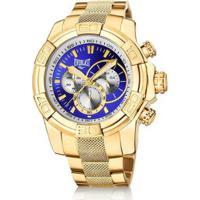 7bd82390a98 Netshoes. Relógio Pulso Everlast Cronógrafo Pulseira Aço E64 - Masculino