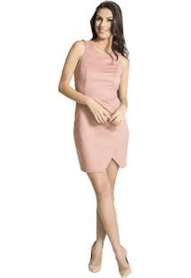 Vestido Slim Suede Handbook - Feminino