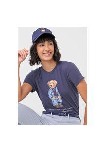 Camiseta Polo Ralph Lauren Urso Azul-Marinho
